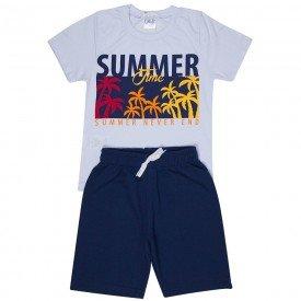 conjunto infantil masculino summer branco marinho 1291 8759 2