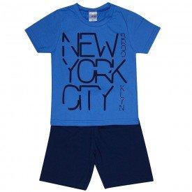conjunto infantil masculino new york city azul anil marinho 1296 8776