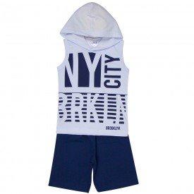 conjunto infantil masculino new york capuz branco marinho 1297 8779