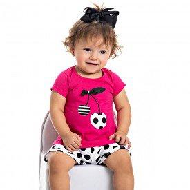 conjunto bebe menina cerejinha groselha branco 4504 9056