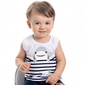 regata machao bebe menino shark branca 4553 9102