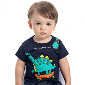 camiseta bebe menino dino marinho 4558 9116