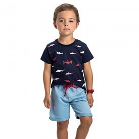 conjunto infantil masculino shark marinho infinity 4564 9130