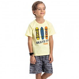 conjunto infantil masculino skate lemonade cinza storm 4584 9158