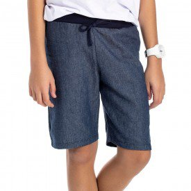 bermuda juvenil masculina sarja jeans marinho 4598 9179