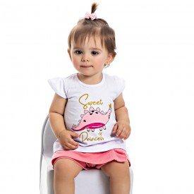 conjunto bebe menina sweet princess branco babalu 4507 9061