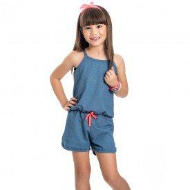 macaquinho infantil feminino cotton jeans azul claro 4541 9079