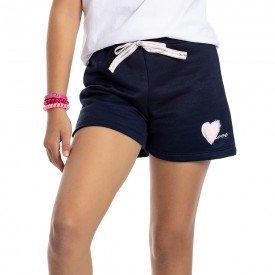 short juvenil feminino moletinho marinho 4544 9085