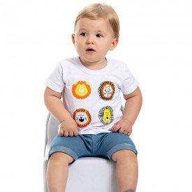 conjunto bebe menino safari branco azul claro 4554 9104