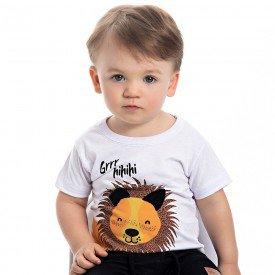 camiseta bebe menino leaozinho branco 4556 9110