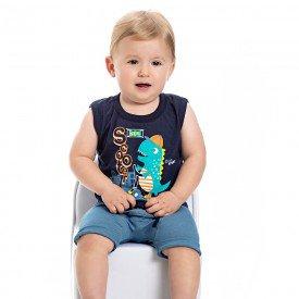 conjunto bebe menino dino marinho jeans azul claro 4557 9113