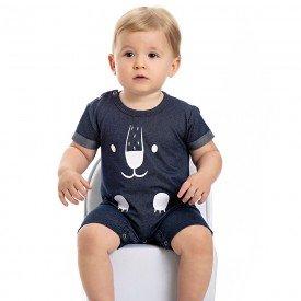 macacao bebe menino cotton jeans marinho 4560 9121