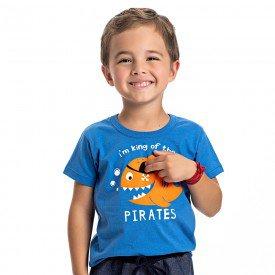 camiseta infantil masculina piratas azul palacio 4566 9135
