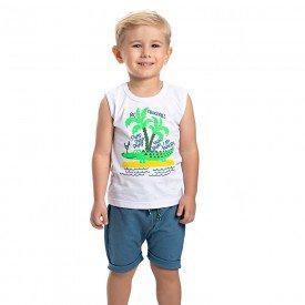 conjunto infantil masculino crocodilo branco jeans azul claro 4574 9148