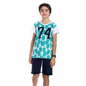 conjunto juvenil masculino tropical branco marinho 4589 9160