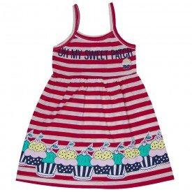 vestido infantil feminino sweet vermelho 1258 8646