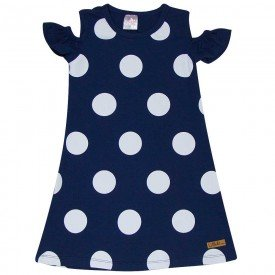 vestido infantil feminino poa marinho 1274 8655