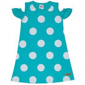 vestido infantil feminino poa verde 1274 8654