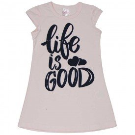 vestido infantil feminino life rosa claro 1278 8666