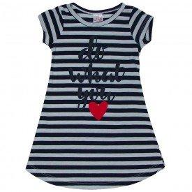vestido infantil feminino listrado preto 1284 8686