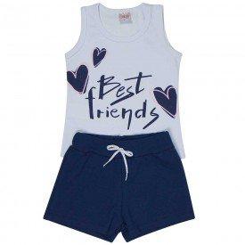 conjunto infantil feminino best friends branco marinho 1286 8691