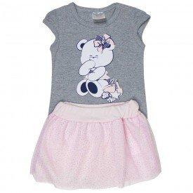 conjunto bebe menina ursinho mescla rosa claro 1238 8601