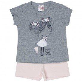 conjunto bebe menina boneca mescla rosa claro 1239 8605