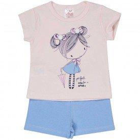 conjunto bebe menina boneca rosa claro azul claro 1239 8603