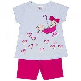 conjunto bebe menina love branco pink 1240 8606