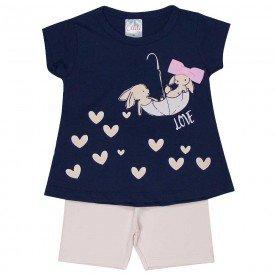 conjunto bebe menina love marinho rosa claro 1240 8607