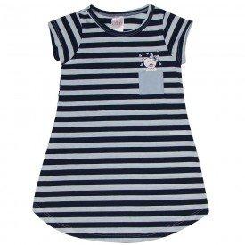 vestido infantil feminino listrado preto 1257 8644