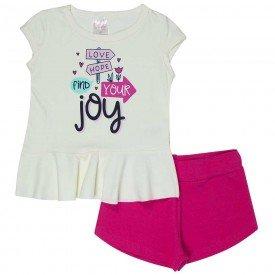 conjunto infantil feminino joy off white pink 1282 8680 2