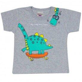 camiseta bebe menino dino mescla 4558 9117