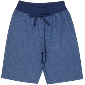 bermuda juvenil masculina sarja jeans azul claro 4598 9180
