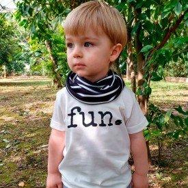 t shirt infantil unissex off white fun gola listrada preto c 04 01 07 g modelinho 8576