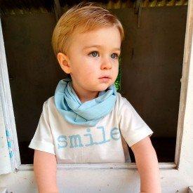 t shirt infantil unissex off white smile gola azul acqua c 04 03 08 g modelinho 2 8578