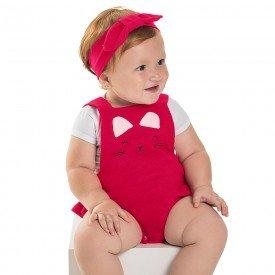 body bebe menina gatinha vermelho 6648 8926