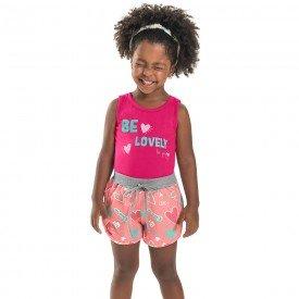conjunto infantil feminino lovely pink love blush 6654 8930
