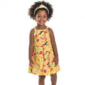 vestido infantil feminino fresh tucanos amarelo 6666 8936