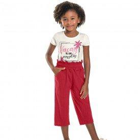 conjunto infantil feminino pantacourt cream scarlet 6673 8939