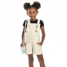conjunto infantil feminino jardineira moletinho preto off 6682 8942