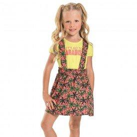 conjunto infantil feminino salopete melao coqueiros blush 6683 8943