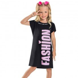 vestido infantil feminino fashion preto 6686 8946