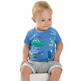 conjunto bebe menino dino azul artico mescla medio 6721 8950