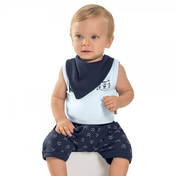 trijunto bebe menino roar lavanda navy 6724 8955
