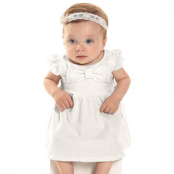 vestido bebe menina laco branco off white 6808 9030