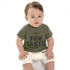 conjunto bebe menino funtastic verde militar cream 6864 9033