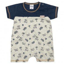 macacao bebe menino tropical marinho mescla cream 6870 9037