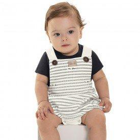 body jardineira bebe menino cream 6871 9038