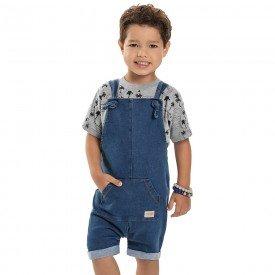 jardineira infantil masculina jeans 6885 9042